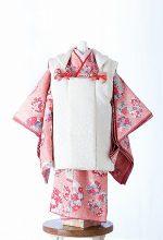 桃色吉野-アンティーク風七五三着物レンタル