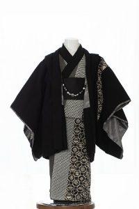 黒宝寿-アンティークな七五三着物
