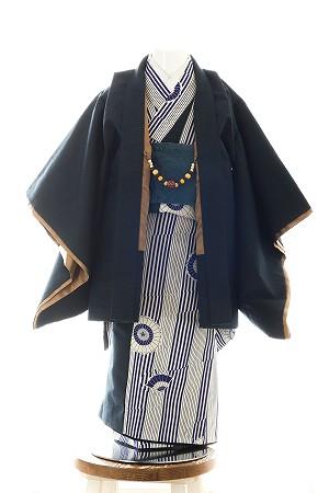 紺唐傘-アンティーク風七五三着物レンタル