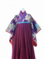 紫菊モダン-アンティークな七五三着物