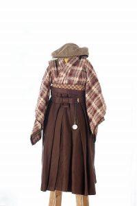茶色織-アンティークな七五三着物