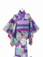紫菊モダン-アンティークな七五三着物レンタル
