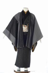 渦巻き黒太郎-アンティークな七五三着物