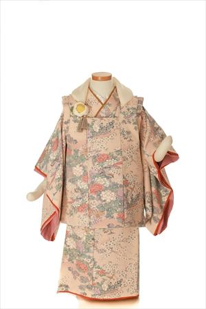薄桜-アンティークな七五三着物レンタル