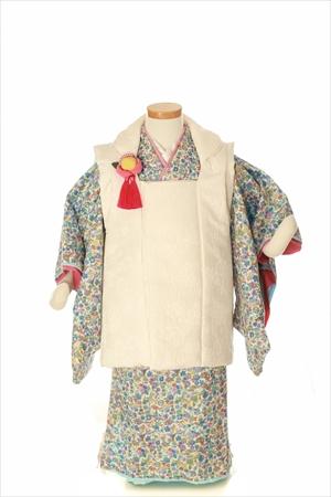 ぶるー花畑-アンティークな七五三着物レンタル