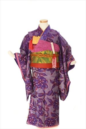 紫銘仙-アンティークな七五三着物レンタル